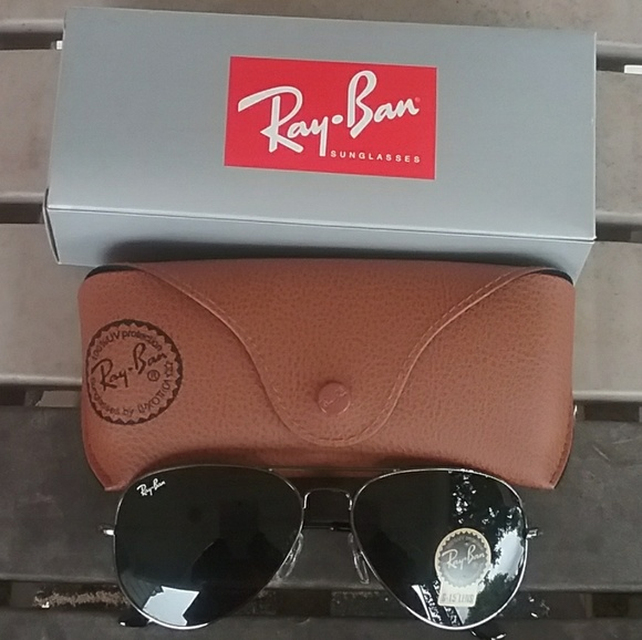 99664a6e2 Ray-Ban Accessories | Brand New Black Rayban Aviators 58mm Never ...